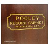 "ANTIQUE Mahogany Victor Player Record Cabinet with Records by ""Pooley Record Cabinet, Phila., PA"""