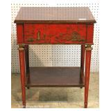 "Asian Decorated 1 Drawer Stand by ""Maitland Smith Furniture"""