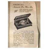ANTIQUE Walnut Case Thorens Disc Music Box with Swiss Musical Movement and a Walnut Case 18 Discs