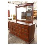 """5 Piece SOLID Cherry Bracket Foot Bedroom Set with King Size Headboard by """"Ethan Allen Furniture"""""""