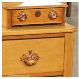 ANTIQUE Cottage Dresser with Mirror