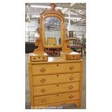 ANTIQUE Cottage Dresser with Mirror