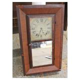 ANTIQUE Ogee Mahogany Case Clock