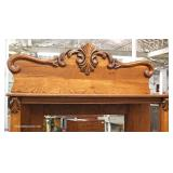 ANTIQUE Oak Sideboard with High Back Mirror