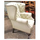 QUALITY Chesterfield Style Button Tufted Ball and Claw Wing Chair