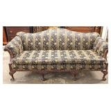 SOLID Mahogany Frame Chippendale Style Sofa