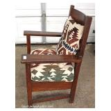 ANTIQUE Mission Oak Arm Chair in the Manner of Stickley