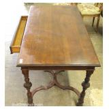 ANTIQUE William and Mary Style 1 Drawer Oak Writing Desk