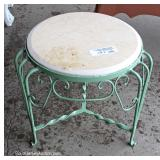 One of Several Marble Top and Iron Stands Located Field – Auction Estimate $10-$20