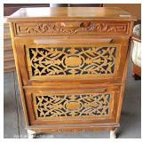Carved Mahogany Fall Front Cabinet Located Dock – Auction Estimate $50-$100
