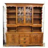"2 Piece Cherry Hutch by ""Ethan Allen Furniture"" Located Inside – Auction Estimate $100-$400"