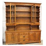 """2 Piece Cherry Hutch by """"Ethan Allen Furniture"""" Located Inside – Auction Estimate $100-$400"""