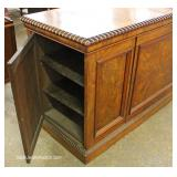 ANTIQUE Burl Walnut Buffet with Hide Away Side Doors