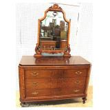 BEAUTIFUL 3 Piece Depression Bedroom Set in the Walnut and Rosewood with a Full Size Bed