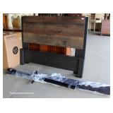 NEW Ship Lap Style Full Size Bed with Rails