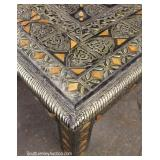 Rectangular Middle Eastern Decorated Bronze Wrap Decorator Coffee Table