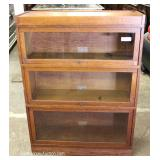 "ANTIQUE Oak 3 Stack Bookcase by ""Globe Wernicke"""