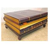 "BEAUTIFUL 3 Drawer Leather Wrap Book Coffee Table by ""Maitland Smith Furniture"""