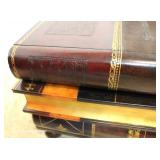"""BEAUTIFUL 3 Drawer Leather Wrap Book Coffee Table by """"Maitland Smith Furniture"""""""