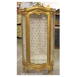 Antique Style French Crystal Cabinet
