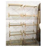 PAIR of Lucite and Brass Modern Design Display Cabinets
