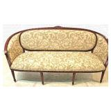 BEAUTIFUL 6 Piece French Style Parlor Set in the SOLID Mahogany Frame