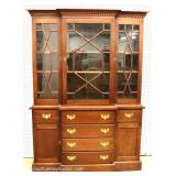 Custom SOLID Mahogany 8 Piece Queen Anne Dining Room Set, 2pc 3dr China Cabinet