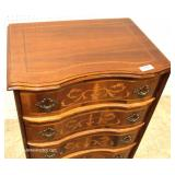 French Inlaid Walnut 5 Drawer Lingerie Style Chest