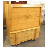 VINTAGE Mid Century 4 Piece Burl Maple Bedroom Set – will be offered separate