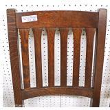 Stickley Furniture FANTASTIC Mission Oak Dining Room Trestle Table & 6 Mission Oak Slat Back Chairs