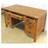 """Mission Oak Desk with Panel Back - Very Great Quality - by """"Stickley Furniture"""""""