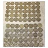 2 Sheets of $10.00 (40) each of U.S. Silver Quarters