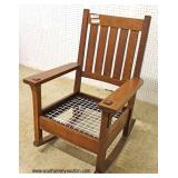 "Mission Oak Rocker by ""Stickley Furniture"""