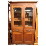 ANTIQUE Mahogany 4 Door 2 Drawer Flat Wall Cupboard