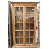 Contemporary Restoration Hardware Style 20 Pane 2 Door Bookcase