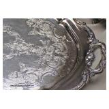 5 Piece Gorham Sterling Tea Set with Silver Plate Serving Tray (6 Piece Total)