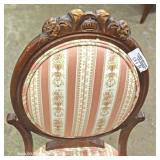 PAIR of Victorian Style Medallion Back Chairs