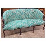 VINTAGE Mahogany Frame Petite Sofa