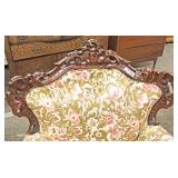 4 Piece Highly Carved and Ornate Italian Parlor Set