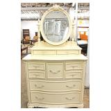 Selection of Contemporary White Decorator Dresser and CORNER Dresser with Mirrors