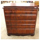 ANTIQUE Burl Mahogany Chest