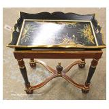 Paint Decorated Serving Table in the Manner of Maitland Smith