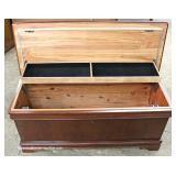 "Burl Mahogany Contemporary Cedar Chest by ""Powell Furniture"""