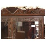 SOLID Mahogany Highly Carved in the Asian Style 2 Door Display Cabinet