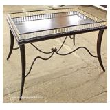 HIGH END Metal Base Spindle Gallery Tea Table with Original Tag