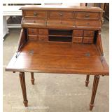 Contemporary Mahogany Inlaid Slant Front Desk