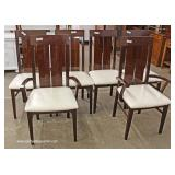 7 Piece Contemporary Modern Design Italian Lacquer Dining Room Table with 6 Chairs Table has 2 Leave