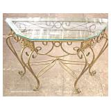 Iron and Glass Decorator Console