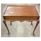 "SOLID Mahogany Queen Anne Tea Table by ""Biggs Furniture"""