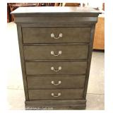 NEW 6 Drawer Gray Wash Finish High Chest